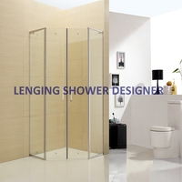 304 stainless steel frameless tempered glass shower cubicles