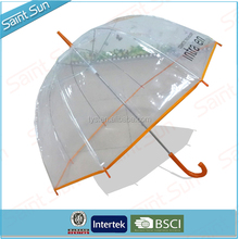 Customized Manual Open Kids Clear POE Bubble Dome Umbrella