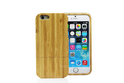 2 pieces case for wooden iphone 6,bamboo hard case for iphone 6,for iphone mobile cover