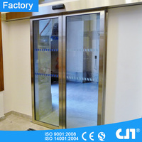Stainless Steel Frame Automatic Sliding Glass