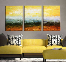 3 Panel Home Goods Wooden Acrylic Canvas Wall Art Decoration