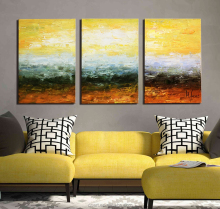 Abstract Beach Water Modern Original Painting Wall Art Decor