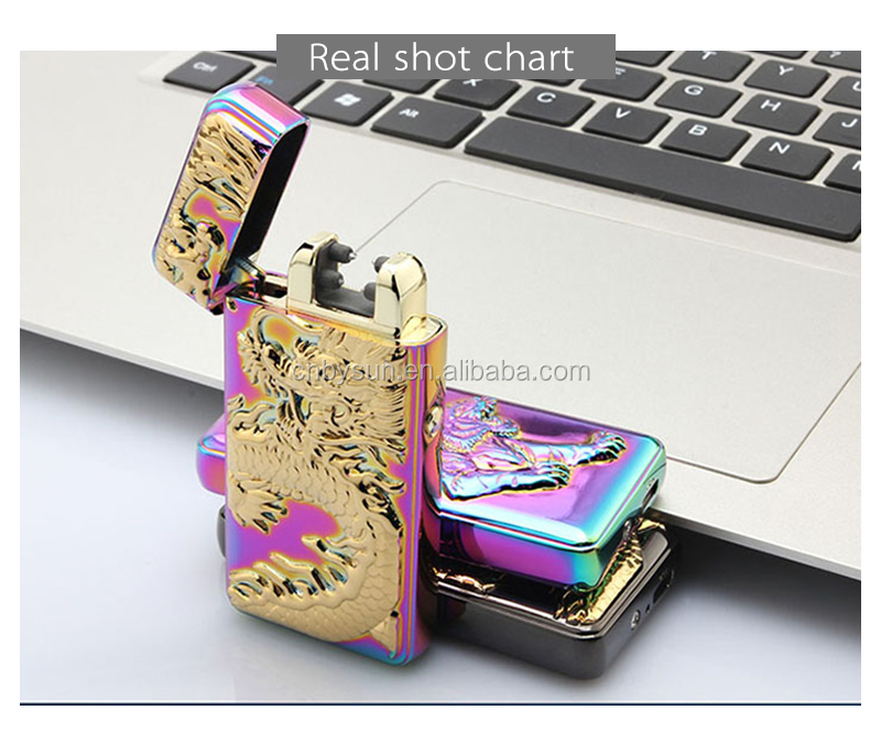 BS-911 New Style 2017 Dual Arc Electric usb charged lighter