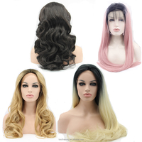 Wholesale 2017 New Style Beauty Stock Ombre Cheap Synthetic Lace Front Wig