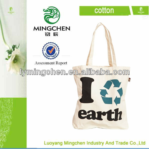 100% ecological natural cotton drawsring bag