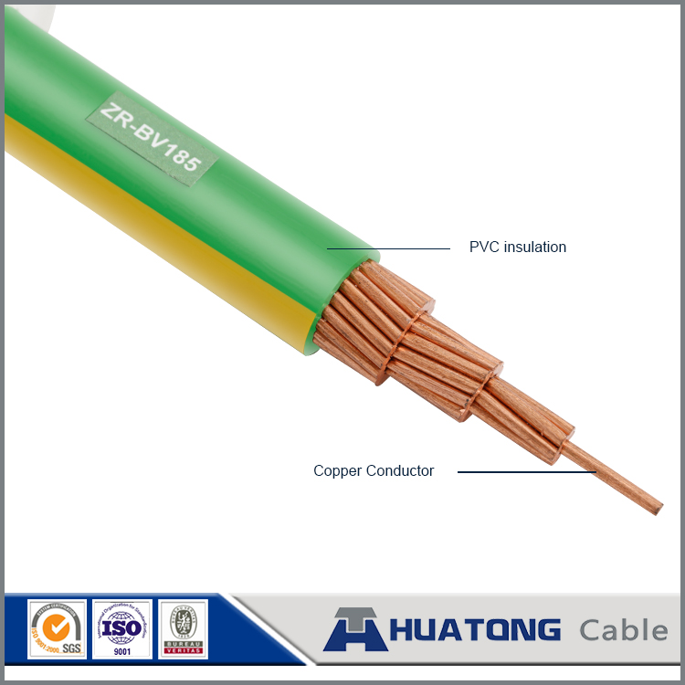 Large cross section Flame retardant Solid stranded Copper core PVC Electric Wire 185mm2