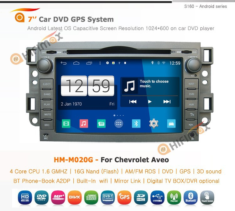 HIFIMAX Android 4.4.4 Car Radio For Chevrolet Spark(2005-2009)/Chevrolet Optra (2002-2010) Car DVD GPS WITH WIFI 3G INTERNET DVR