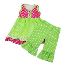 wholesale children's boutique clothing birthday outfit western girls outfit dress shirts set