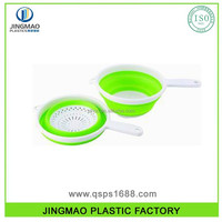 Plastic Foldable Strainer With Handle