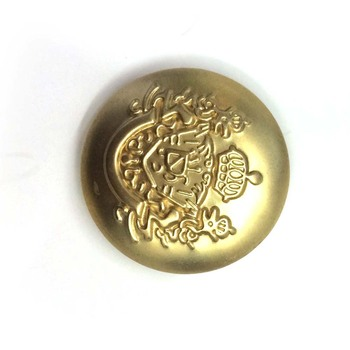 Fashionable customize size metal antique hollow jeans button for jeans clothing BK-BUT306