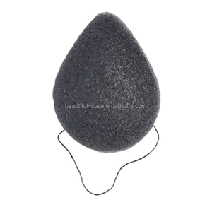 100% Natural Bamboo Charcoal Heart Natural Konjac Sponge with factory price