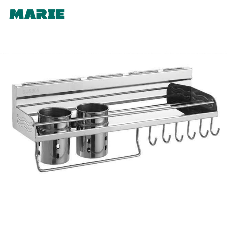 500mm stainless steel kitchen accessory single shelf