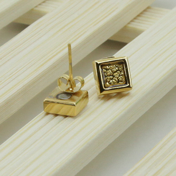 Wholesales 24 <strong>K</strong> gold magnetic earrings fashion jewelry