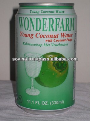 SOVINA- WONDERFARM Young Coconut Water With Pulp