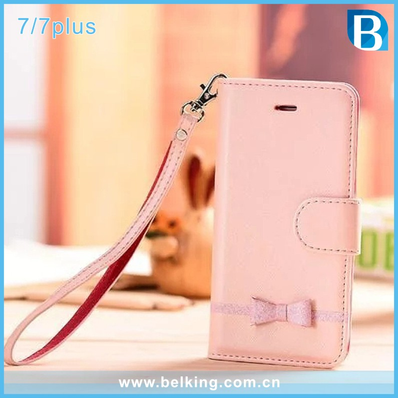 Cute Women Girls Phone Card Slot Wallet Leather Case For iPhone 7 7Plus Handbag