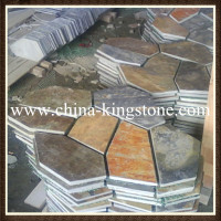 China hot selling natural rusty slate paving for construct decoration