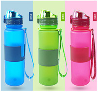 Durable silicone collapsible water bottle hiking products rollable squeeze water bottle