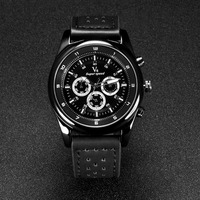 alibaba vogue mens luxury leather teenagers v6 sports watch wholesale factory quartz watch