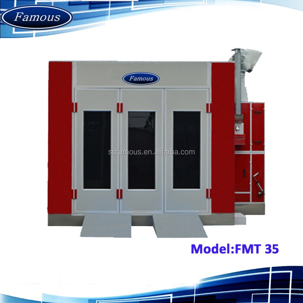 FMT35 Famous CE approved car bake oven /used paint booth/spraybooth for cars
