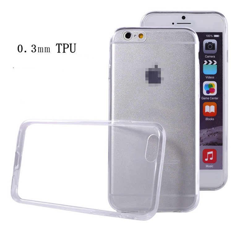 Cell Phone Cover Wholesale Transparent Soft TPU Clear Back Cover Case Mobile Phone Case For iphone 6 4.7