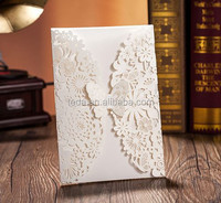 2016Teda Free Shipment laser cut wedding invitation card