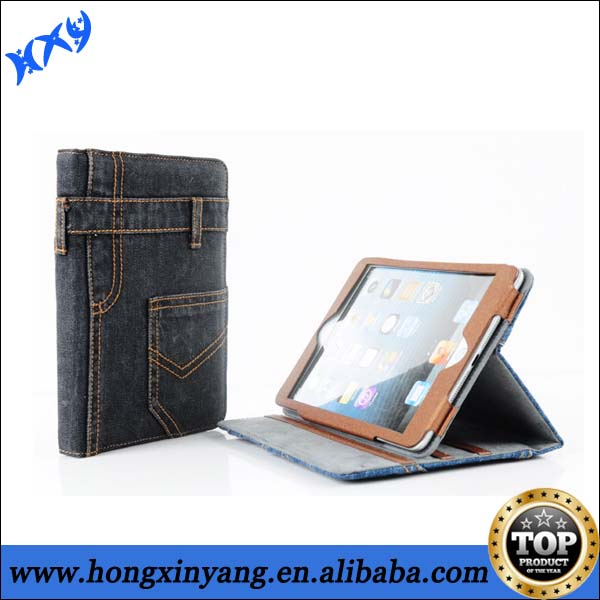 leather universal flip case for iPad 2 3 4