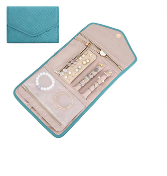 Travel Jewelry Organizer Roll Foldable Jewelry Case for Journey-Rings, Necklaces, Bracelets, Earrings