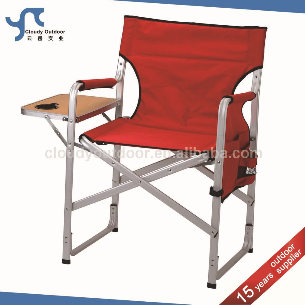 Camping Aluminium Folding Director Chair With Side Table Buy Folding Direct