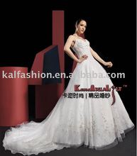 EB888A KAL-fashion custom made Ivory wedding gown(bridal gown) imperial bridal dress in China