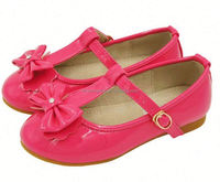 3colorful patent leather lace-up baby shoes soft sole girls dance bowknot sandals