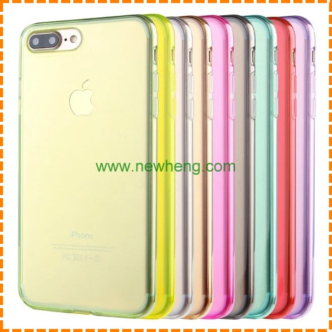 clear tpu acrylic hybrid mobile phone case for iphone 7