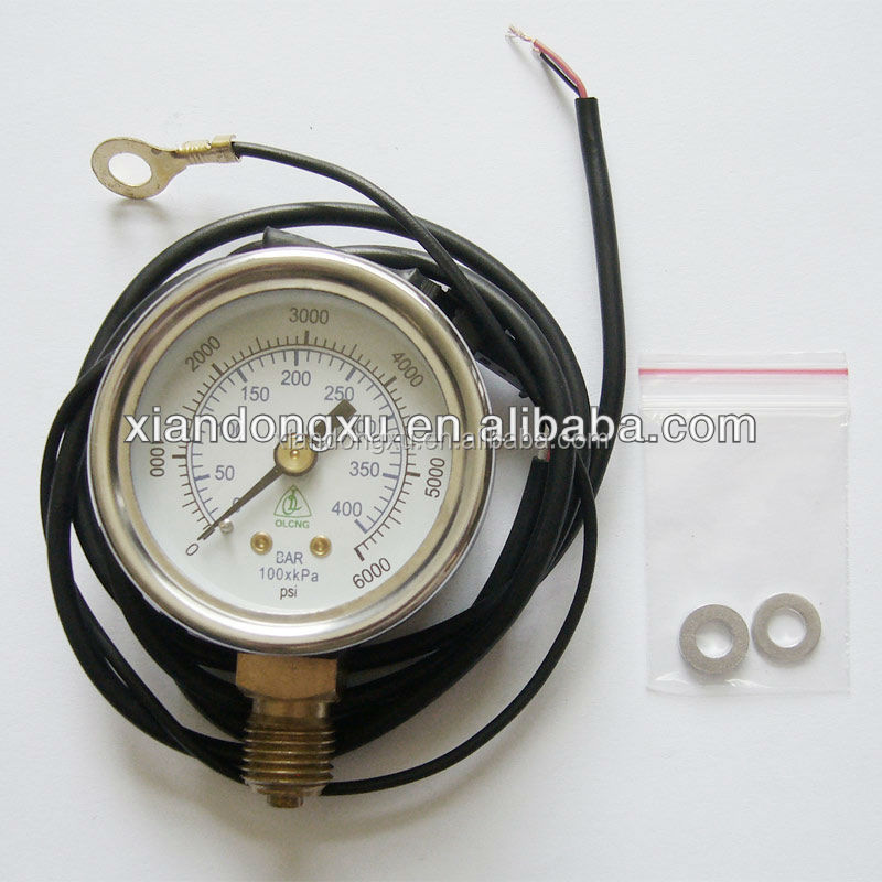 High quality stainless steel cng/pg pressure gauge