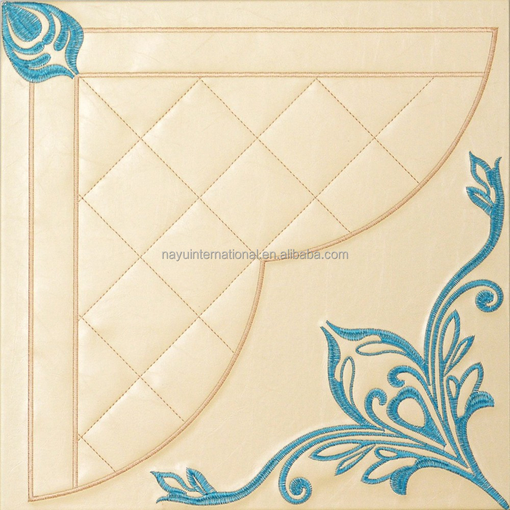 European style elegant light color embroidery decorative pattern interior wall paper 3d wall art