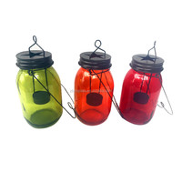 New mason jar tealight holder, metal star candle jar holder , mason jar holder