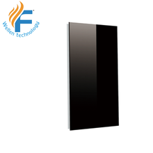 wall mounted bathroom carbon crystal infrared glass panel <strong>heater</strong>