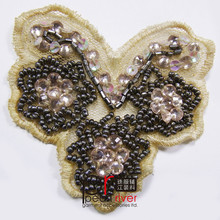 Crystal Rhineston Butterfly Beaded Applique For Beaded Sequin Patch Sew On clothing