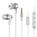 Wallytech Smart Steel W805 High Performance In-Ear Earphones with Built-In Microphone for Apple iOS Samsung Android Devices.