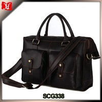 Shenzhen city handbag factory italian leather messenger bag men briefcase laptop bag