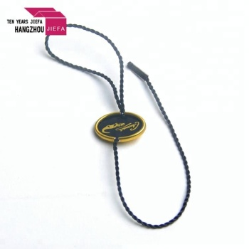 custom plastic hang tag string tag garment seal tags for clothing