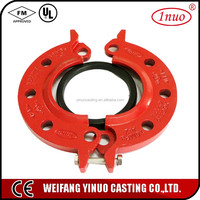 2016 china supplier ul fm ductile iron pipe joint flange