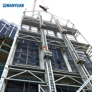 Auto climbing scaffolding system for building construction