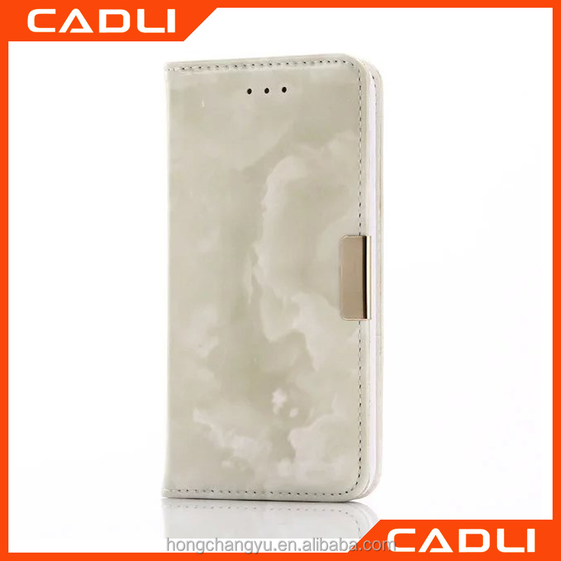 Newest Marble Pattern Design Leather Mobile Phone Cover for iPhone 6 6S 4.7'' PU Phone Cases