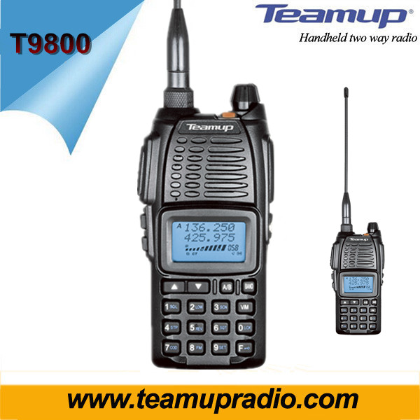 Quanzhou Original Temup T9800 Portable Dual band VHF UHF two way radio intercom