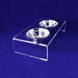 Clear Acrylic Pet Feeder Small Dogs and Cats Dinner Table Feeders Table