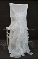 Fancy round back chiffon chair cover for wedding party