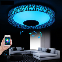 2017 RGB Music LED Ceiling Light With Bluetooth Smartphone APP Control Modern Lighting LED Ceiling Lamp for Romantic Party TB037