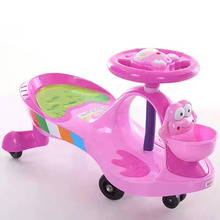 China custom logo children swing car ride on car PP Plastic kids twist toy car to drive