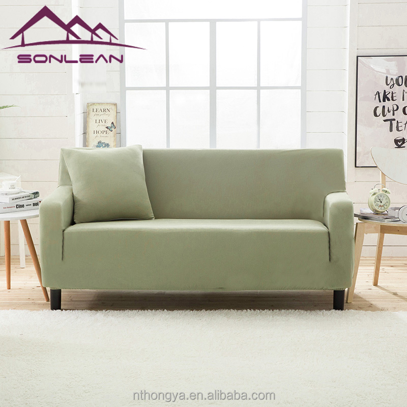Hot sale 95% polyester knitting sofa cover and slipcovers 1 2 3 4 seater sofa cover home cor stretch