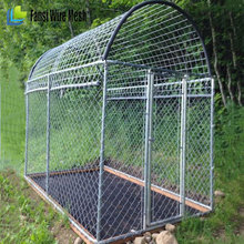 Large Chain Link Metal Dog Kennel Crate Outdoor Pet House