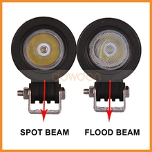 10W Car Lighting Bar 9-32V Cob Work Light Spot Flood Combo Beam Cree Work Led Light